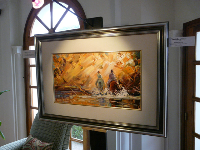 Daniel Sedita with his art at La Posada!