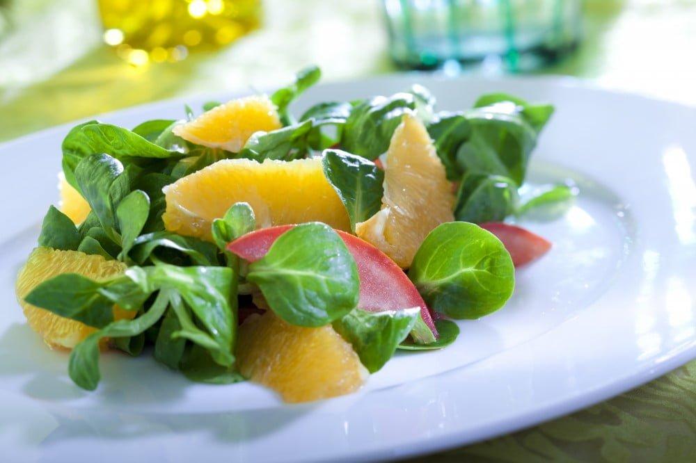 vegetales y cítricos