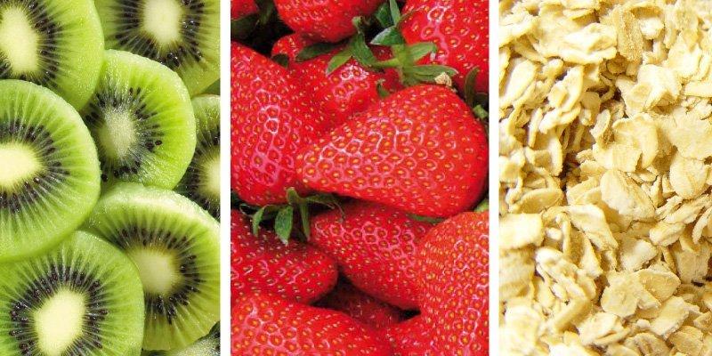 Licuado de Kiwi, Frutillas y Avena