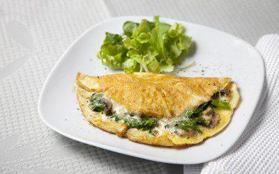 Cocina Saludable: Omelette de Hongos y Espinacas