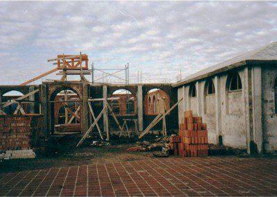 Construcción del gimnasio