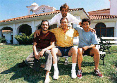 Luis Brandoni, Germán Palacios y Ricardo Darín con Miguel Cané