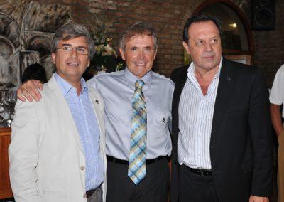 Enrique Finochietti, Miguel Cané y Gustavo Santos