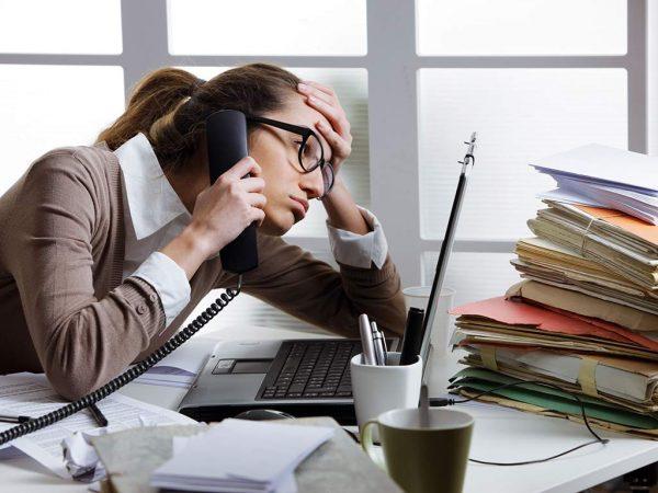 Cuando el trabajo es sinónimo de estrés